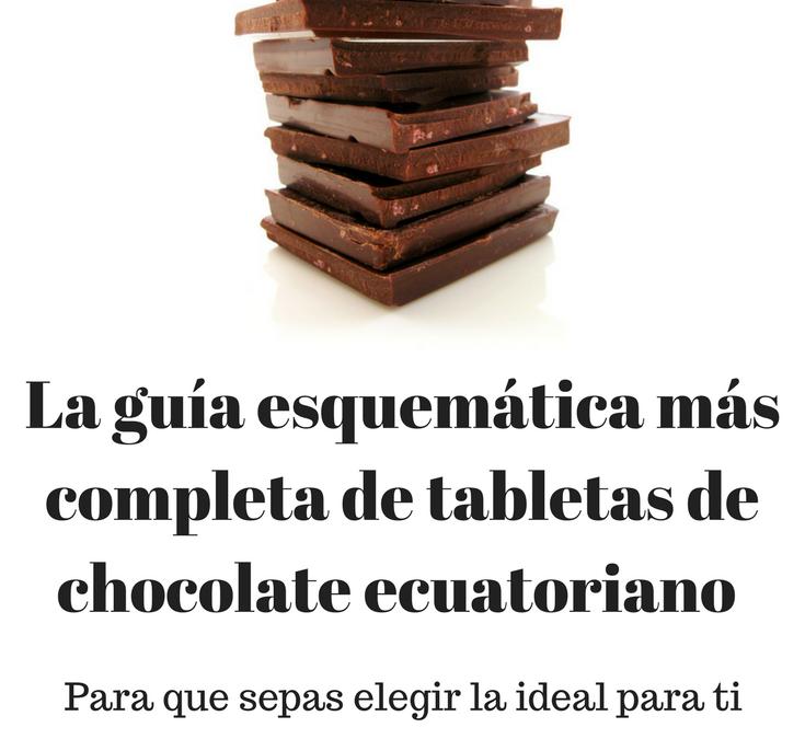 La guía esquemática más completa de tabletas de chocolate ecuatoriano para que sepas elegir la ideal para ti