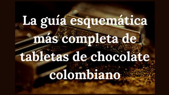 La guía esquemática más completa de tabletas de chocolate colombiano para que sepas elegir la ideal para ti