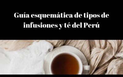 Guía esquemática de tipos de infusiones y tés del Perú