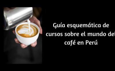 Guía esquemática de cursos sobre el mundo del café en Perú