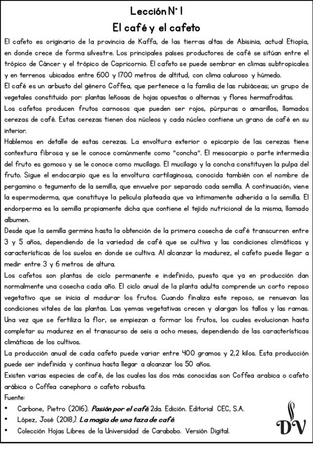Curso de español para amantes del café